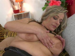Reif sex bombe mutter mit groß saggy titten, porno 97