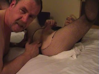 Filthy Crossdresser Gets Hard Cock Through The Ripped Pantyhose