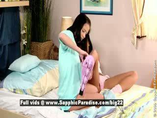Jess dan dara daripada sapphic eroticalesbian kanak-kanak perempuan licking