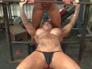 fitness, redhead, big tits