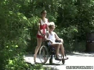 Hawt Nurses Enjoy Threesome Banging