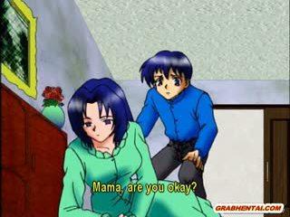 Povekas anime äiti kuuma ratsastus mulkku