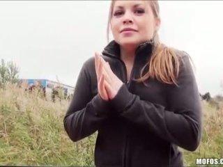 Teen Alessandra fucks her way home
