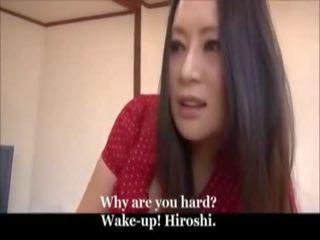 Japonesa mãe e jovem filho