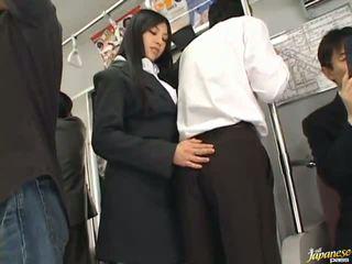 Saori hara the tai stunner gives a lakkumine sisse the subway
