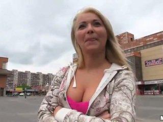 Cute Czech girl Lana fucked for money
