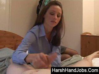 Kelly hart gives a harsh handjob
