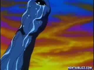 Hentai grūti groupfucked līdz monstrs tentacles