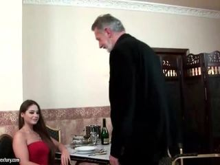 Cathy Heaven enjoys sex with old man