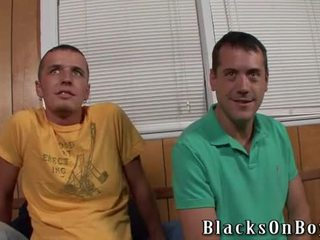 Two White Boys And One Blacksome Cock