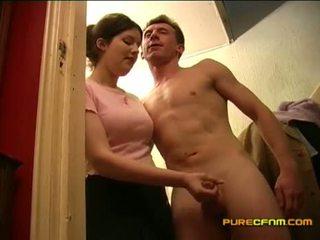 voyeur, knipperende, masturbatie