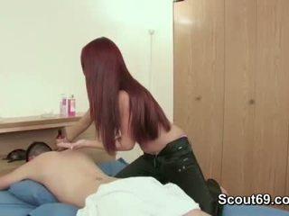 Step-sister suvilioti brolis į šūdas jos su masažas