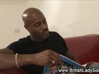 britský ideální, zábava cumshot vidět, sledovat interracial