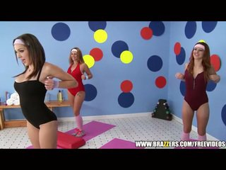 Aerobics instructor loves μεγάλος καβλί