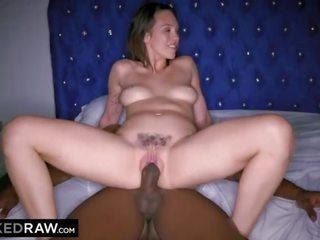 brunete, bbc, blowjob