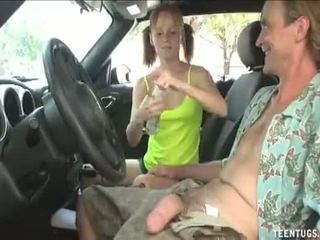 jerking, young girl, american