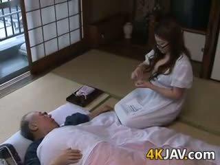 japansk, stora bröst, gamla + young