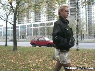 Blond knullet til 200 bucks på den gate