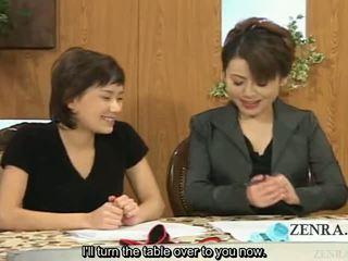 Subtitled الملبس أنثى العاري ذكر اليابانية أخبار reporters risque handjobs