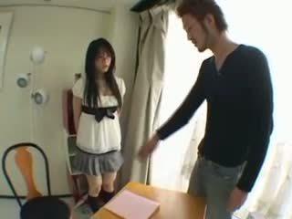 Japans seks bij school- met haar leraar video-