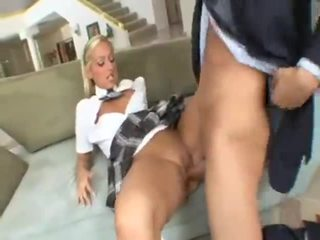 Schoolgirl Lilly Kingston seduces fath...