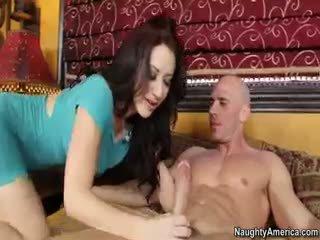 brunette, blowjob, pornstar
