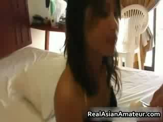 Lil Asian pussy fucked and cum facialed