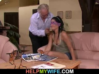 Vicious žena gets zajebal v spredaj od ji mož