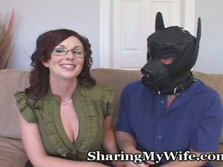 Esposa puts hubby em sua espaço