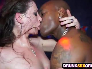 Slutty euro girls fucking in the club