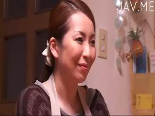 brunette, japonais, bébé