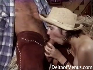 Vintage Porn - Hairy Teen Cowgirl Gets Fucked