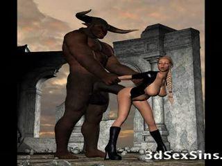 Scary creatures šūdas 3d merginos!
