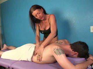 masseuse, jerking, massage