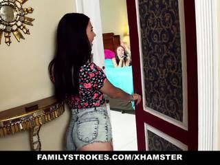 Familystrokes - krok sisters dráždenie a súložiť krok brat