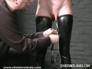 Gimp masked slavegirl cherry torn tortured ir mercilessly plakimas apie blondinė amerikietiškas fetišas sulenktas per pusę į vergavimas, hooter torments ir x įvertinti sadism