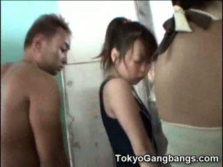 Azijietiškas į dušas su perverts!