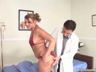 Besar pantat/ punggung ava rose taking penuh tegar gaya examination oleh