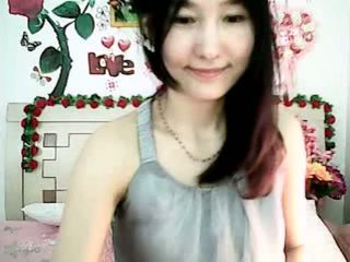 Cute Korean cam girl tempting with plu...