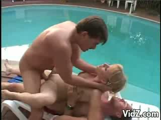 Barbara Summer DPed by the Pool Outdoors