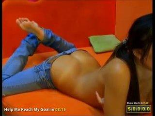 Devine adelle kamera gadis menunjukkan kami beliau manis pantat/ punggung