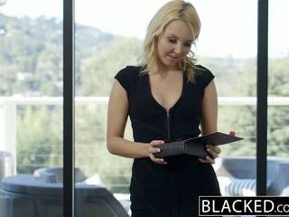 Blacked khá cô gái tóc vàng hotwife aaliyah tình yêu và cô ấy đen lover