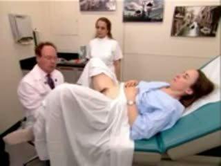 médico, espéculo, gyno
