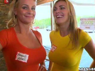 Bang Bros: Phoenix Marie, Tanya Tate double date gangbang