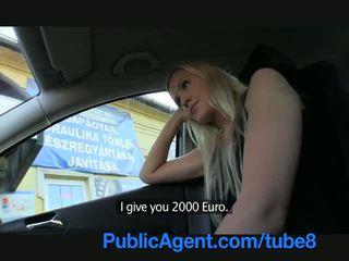 Publicagent 長い haired セクシー ブロンド で ファック outdoors バイ a stranger