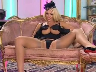 Lucy zara nylon stockings and heels