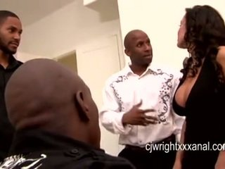 Lisa Ann - Lady MILF gangbanged by blacks guy