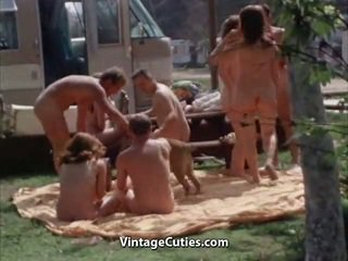 Unclothed People At The Picnic