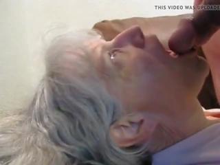 ejaculare in gura, bunicuță, grannies