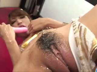 Diildo sensations for curvy ass Asian Aya Sakuraba